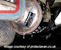 Van security and catalytic converter theft...